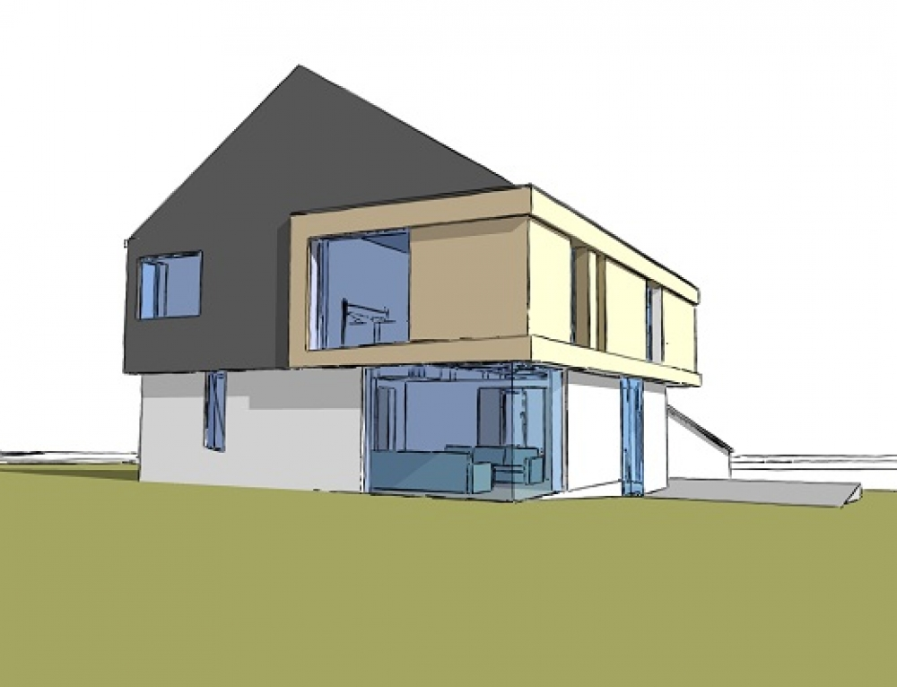 Planning Permission for contemporary Dwelling