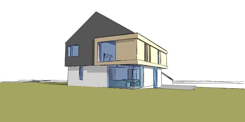 Computer designed image of barn conversion