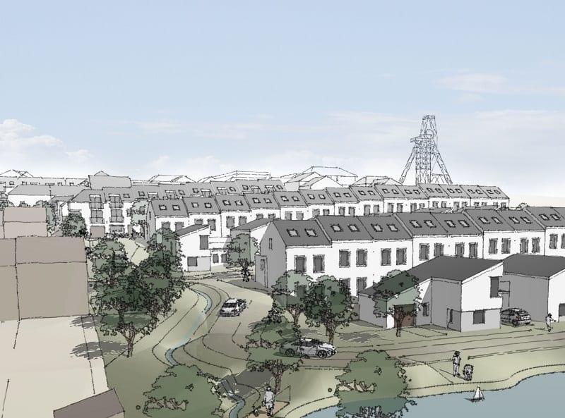 Design proposal of housing estate in Cornwall