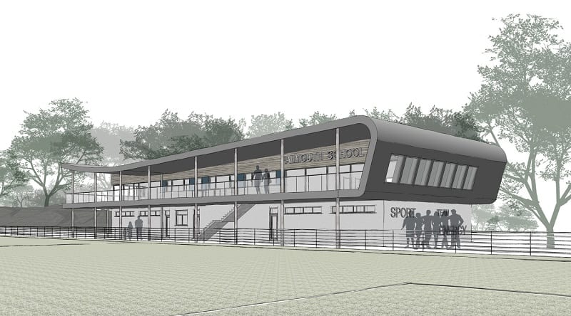 Architectural design drawing of new sports development