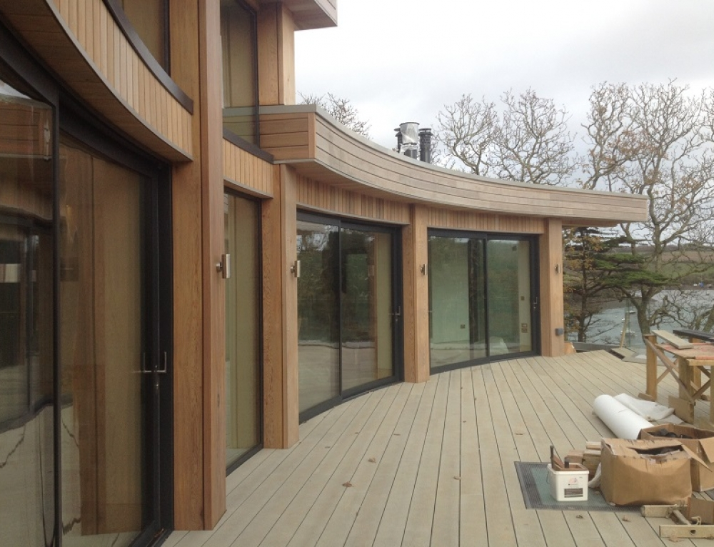 Contemporary Dwelling near St. Mawes almost complete.