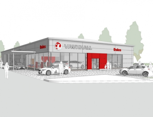 Work starts on the new Vauxhall showroom for Dales Cornwall in Scorrier