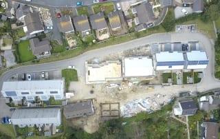 Aerial image of Fairglen development, Cornwall