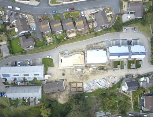 Fairglen: One of the largest Passivhaus developments in Cornwall – Aerial Photos