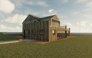 3D image of a luxury home design in newquay