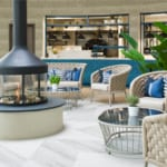 The Headland Hotel Aqua Centre seating in dining area