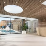 The Headland Hotel Aqua Centre reception and view to outdoor pool