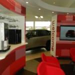 Parklands Toyota Dealership, Helston refreshments area