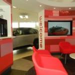Parklands Toyota Dealership, Helston cars interior