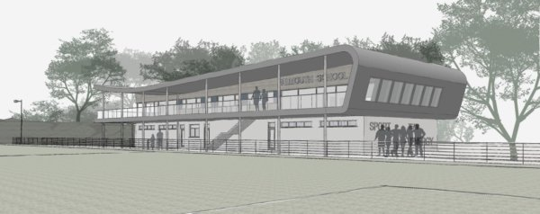 Falmouth School Concept Design - Pitchside View