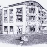 Mixed Use Development Camborne Front Street View Sketch
