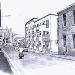 Mixed Use Development Camborne Rear Street View Sketch