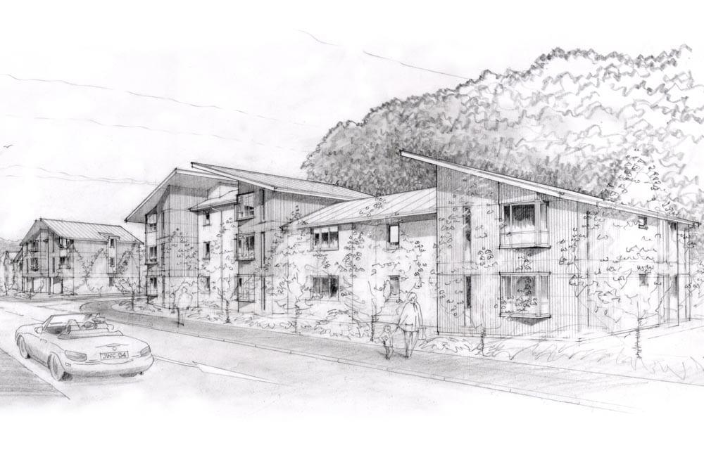 Architects sketch